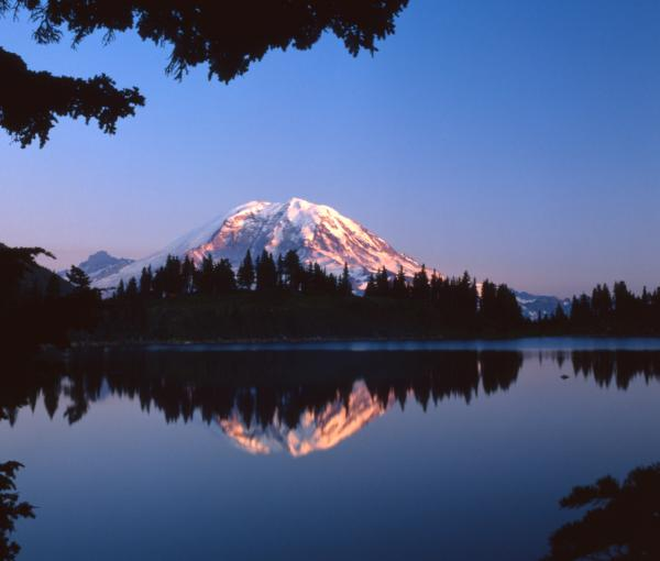 Mount Rainier Reflection - All Rights Reserved